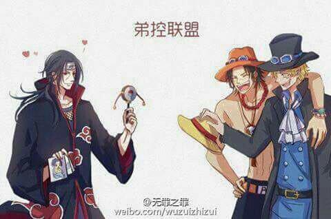 Mélange de Naruto et One Piece.