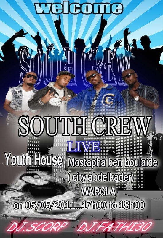 South Crew en concert le 5 Mai à Ouergla