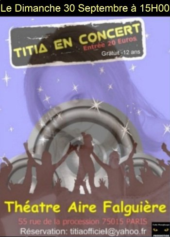 CONCERT LE 30 SEPTEMBRE 2012