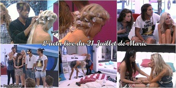 . 21 Juillet 2011 : L'actu live de Marie..
