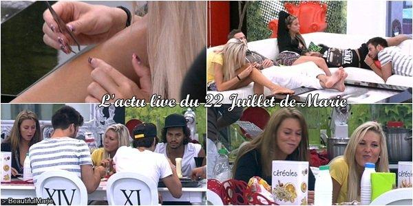 . 22 Juillet 2011 : L'actu live de Marie. .