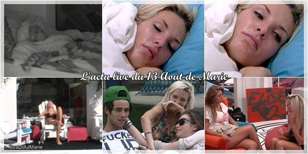 13 Aout 2011 : L'actu live de Marie. .  Marie Garet de Secret Story 5 ♥