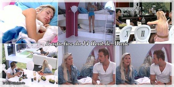 14 Aout 2011 : L'actu live de Marie. .  Marie Garet de Secret Story 5 ♥