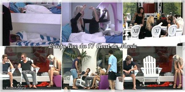 17 Aout 2011 : L'actu live de Marie. .  Marie Garet de Secret Story 5 ♥