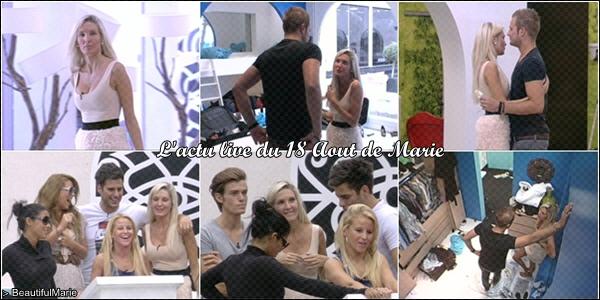18 Aout 2011 : L'actu live de Marie. .  Marie Garet de Secret Story 5 ♥