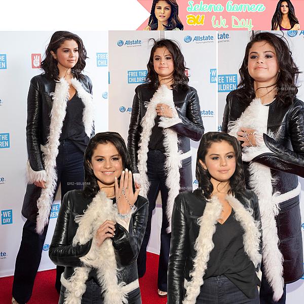 """Selena Gomez  a  assister à """"Nous Jour Illinois"""" à la Allstate Arena de Rosemont, Illinoi le 30 Avril 2015. Comme d'habitude Selena est magnifique."""