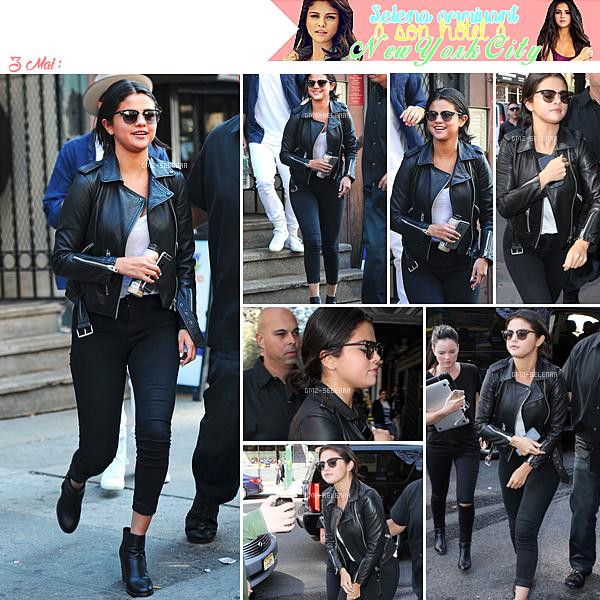 Selena a été aperçut arrivant dans son hôtel à New York City le 3 Mai.