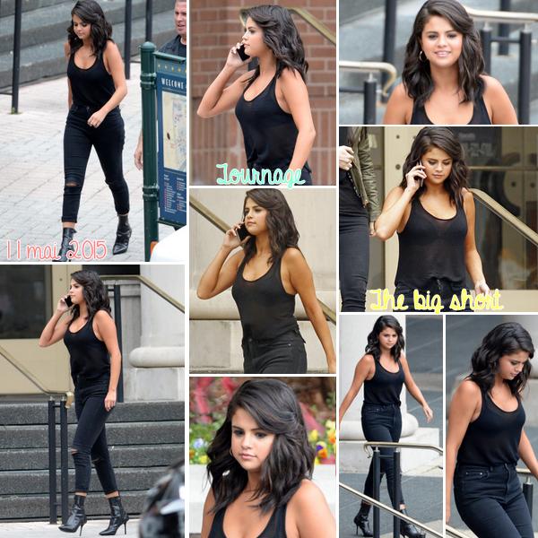 """Le 11 mai, Selena sur le plateau de """"la grande court"""" en Nouvelle- Orléans, Louisiane."""