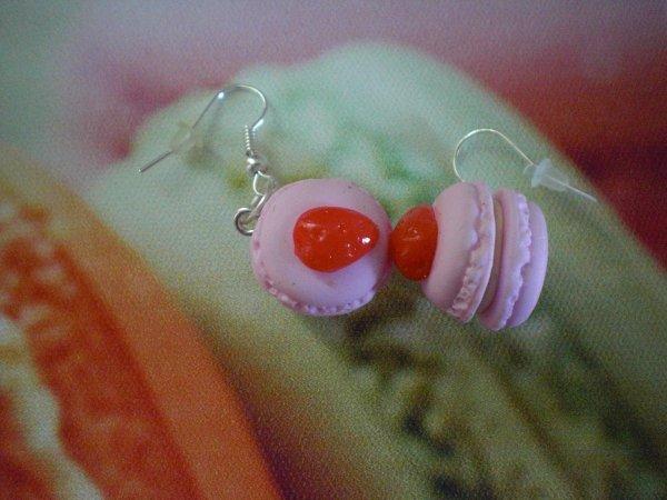 Boucle d'oreille macaron