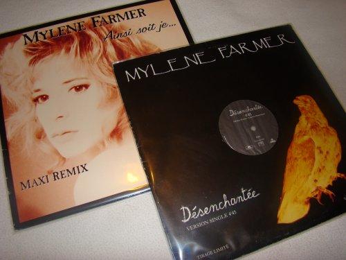 .~*~.  Vinyle promo Désenchantée et maxi 45T Ainsi Soit-Je  .~*~.