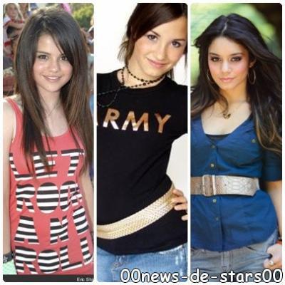 Selena Gomez and Demi Lovato et  Vanessa hudgens
