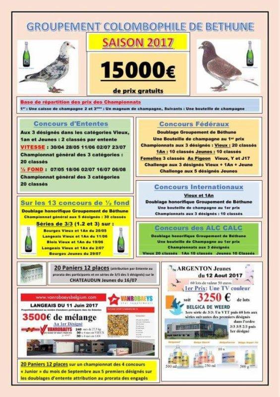 Dotation des concours 2017 du Groupement de Béthune...
