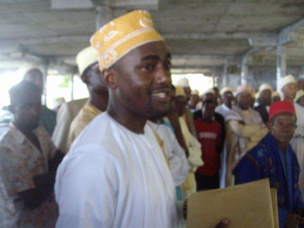 Projet adduction d'eau de Ngoungwé, Abderemane mandaté par la FAT