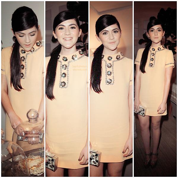 * 12.01.13 : Isabelleétait auprésente LoveGold Hosts A Cocktail Party Celebrating 2013 à Los Angeles. + Isabelle abordeune tenue, très jolie(avec un joli maquillage et une coiffure) Il y avait aussi sa soeur.TOP! *