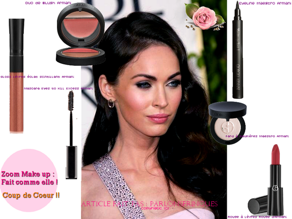 Zoom Make up de : MEGAN FOX