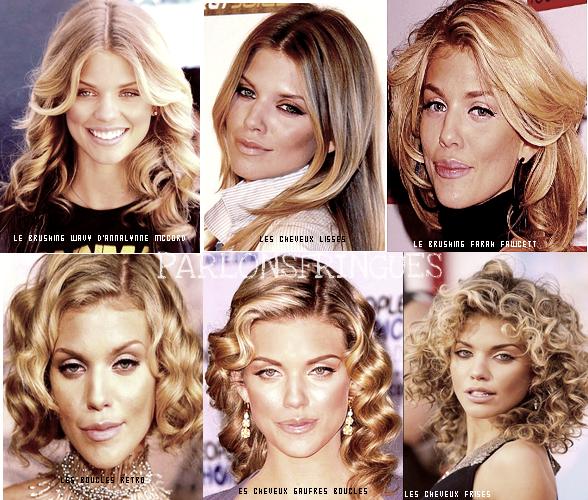Les Differentes coiffures d'Annalyne Mccorde ! Je prefere Quand elle a les cheveux gaufres Boucles et le moins quand elle fait la meche brushée ! Et toi ? tu prefere laquelle ? As tu deja essayé ?