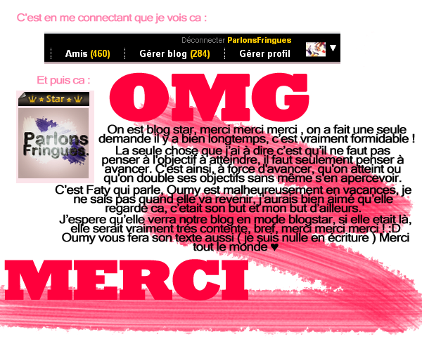 On est blogstaaaaaar ♥