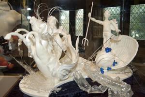 Sculpture en sucre et chocolat blanc