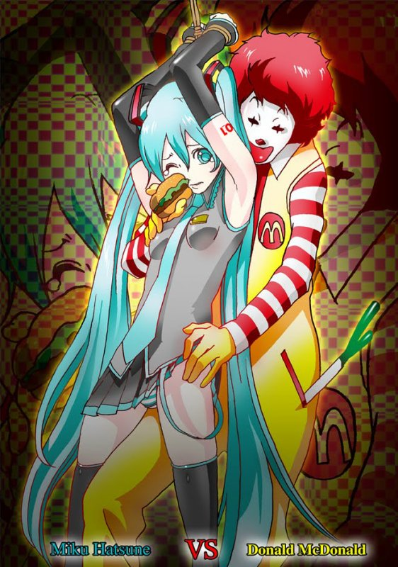 Psy Gangnam Style - Fet. Ronald McDonald and Big Boobs Miku Hatsune