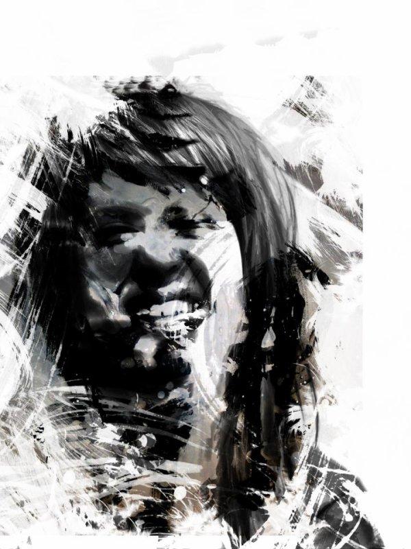 Hayley Williams noir et blanc