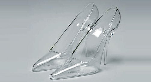 pantoufles de verres