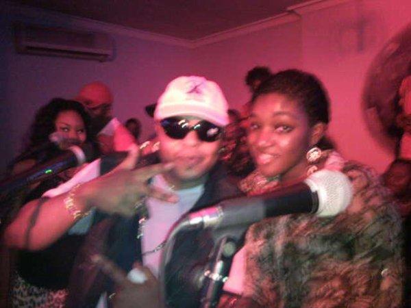 JB Mpiana et moi á Crystal(Kinshasa)