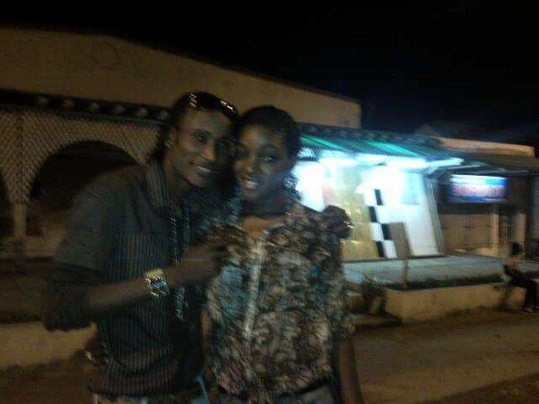Mignon et moi á Crystal(Kinshasa)