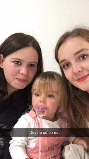 Avec ma copine cherie et ma princesse d'amour !
