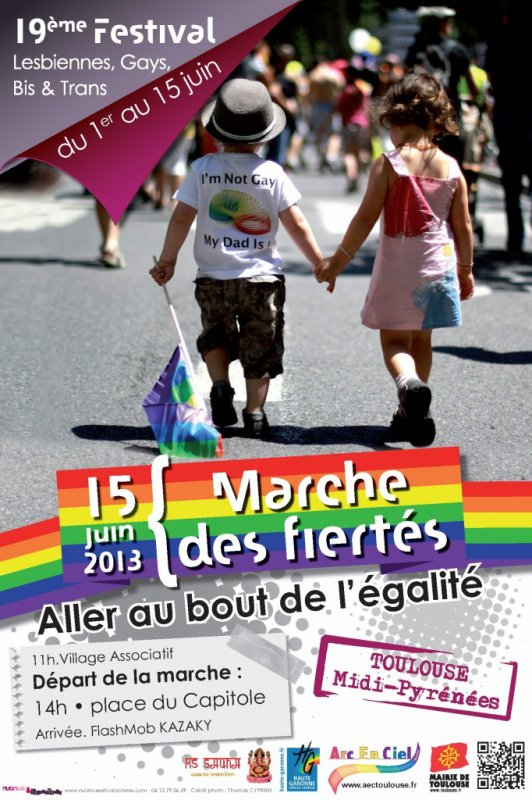 Gay pride 2013 à Toulouse !