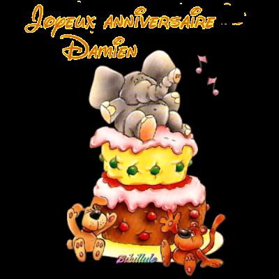 Joyeux anniversaire damien profitons de chaque - Tchoupi l anniversaire de doudou ...