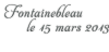 Fontainebleau - 15/03/2013