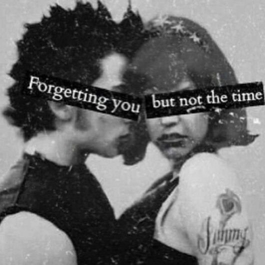 Forgetting you...But Not The Time