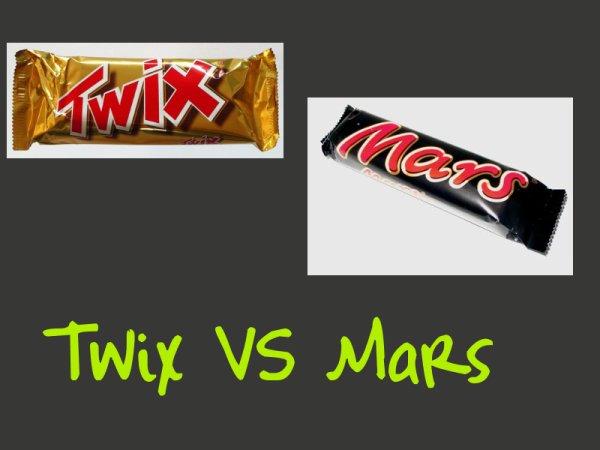 Twix VS Mars