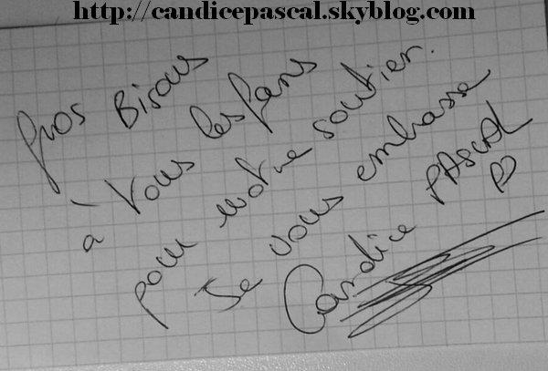Candice vous écrit ...