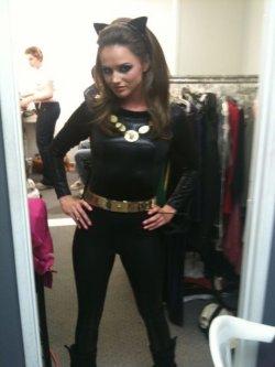 Moi en préparation pour faire Catwoman dans un film X...