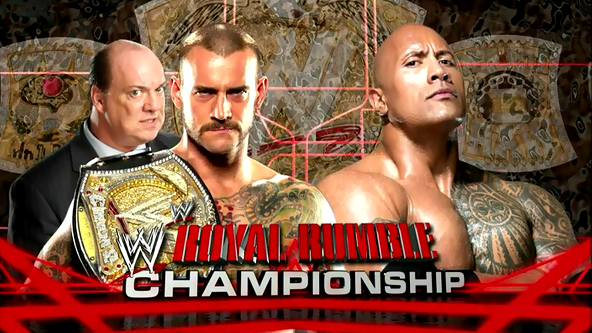 CM Punk Vs The Rock For The WWE Title !