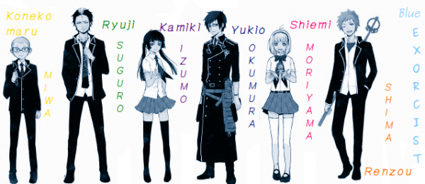 Blue Exorcist ~ Personnages