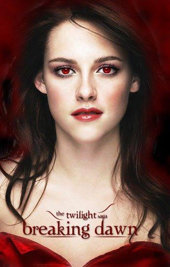 bella a les yeux rouge