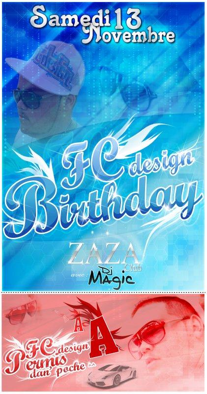 FC design Birthday and permis =)