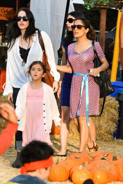 Salma Hayek est sa famille