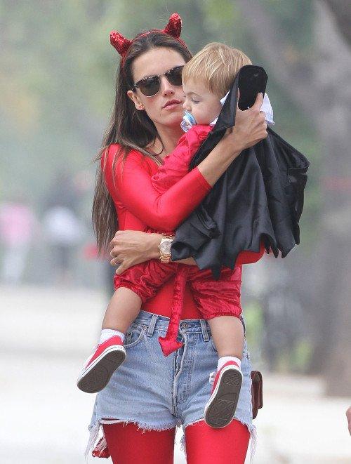 Alessandra Ambrosio et ses enfants anja et noah