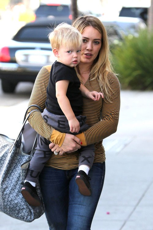 Hilary Duff & Son Fils Luca