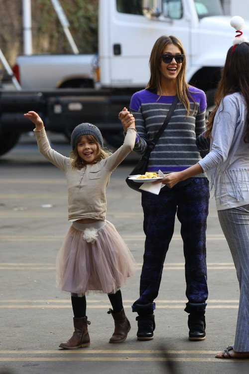 Cash Warren et Jessica Alba et leur fille