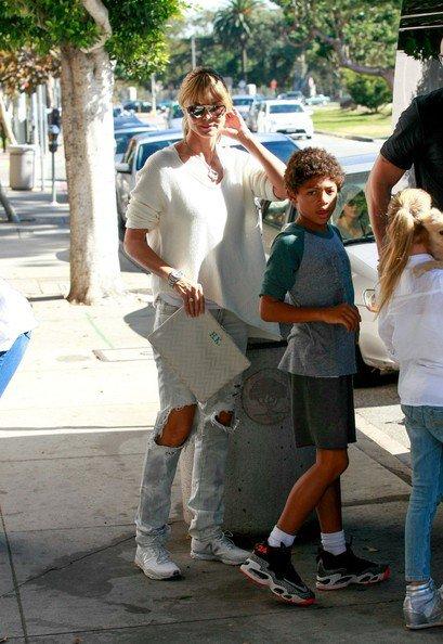 Heidi Klum fait du shopping