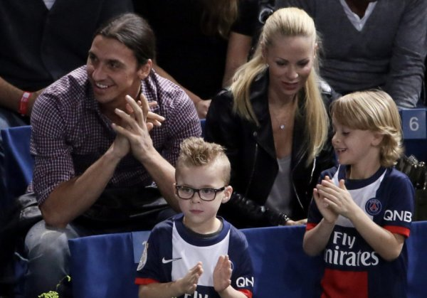Zlatan Ibrahimović, Helena, Maximilian et Vincent