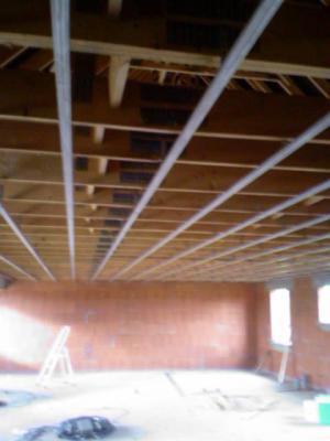 exemple de pose et de préparation d'un plafond