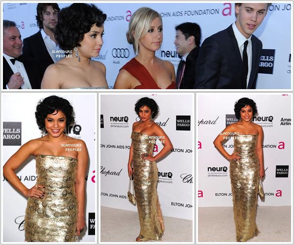 ᅠ 26 Février 2012 : Vanessa Hudgens et son petit ami Austin Butler à la soirée de  Elton John pour la fondation AIDS ᅠ