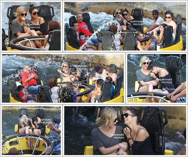 ᅠ 03 Mars 2012 : Vanessa Hudgens et Ashley Benson au parc d'attraction  Busch Gardens en Floride ᅠ