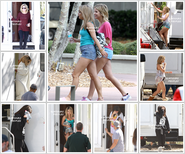 ᅠ 06 Mars 2012 : Vanessa Hudgens, Ashley Benson et Selena Gomez sur le set du film Spring Breakers en Floride ᅠ