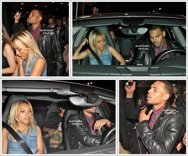 ᅠ 30 Mars 2012 : Chris Brown quitte le Supper Nightclub avec sa petite amie Karrueche Tran à Hollywood  ᅠ